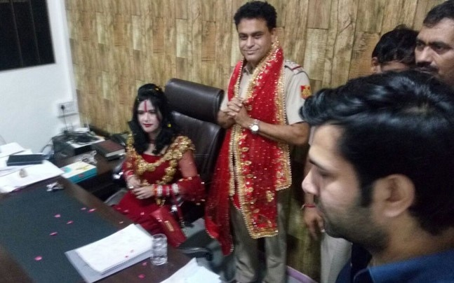 Image result for Radhe Maa gets VIP treatment at police station in New Delhi