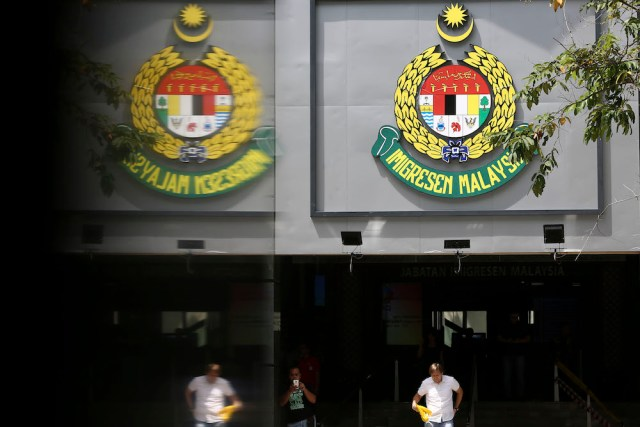The Immigration Department logo is seen at its headquarters in Putrajaya January 10, 2019. — Picture by Yusof Mat Isa