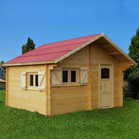 abri de jardin en bois massif semi habitable 20m madriers 60mm