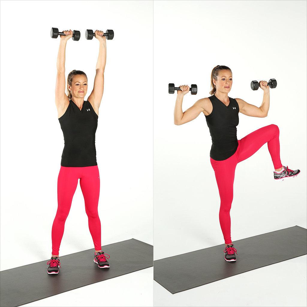 Shoulder Press and Side Crunch