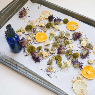 Room Scents Spring Potpourri Made From Dried Flowers Citrus and Essential Oils