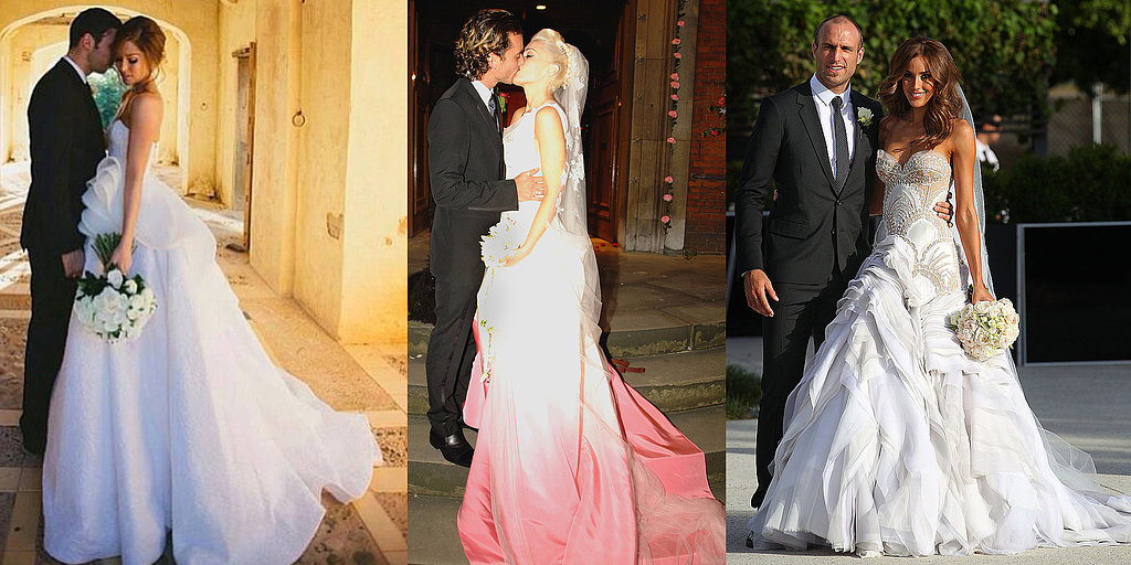 Celebrity Wedding Dresses And The Designers Who Created