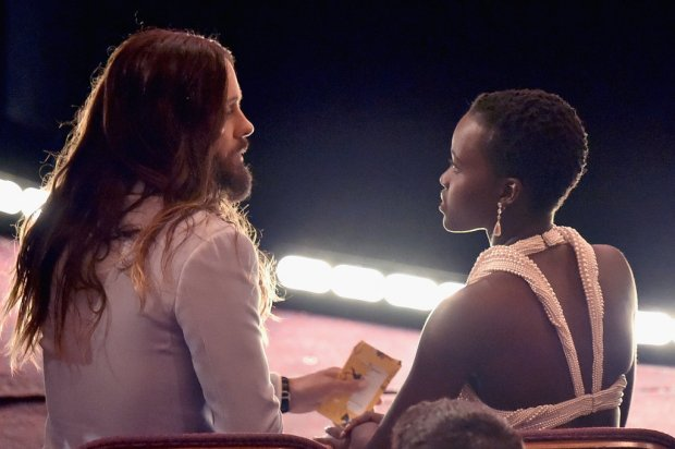 Jared Leto Was Deep in Conversation With Lupita Nyong'o