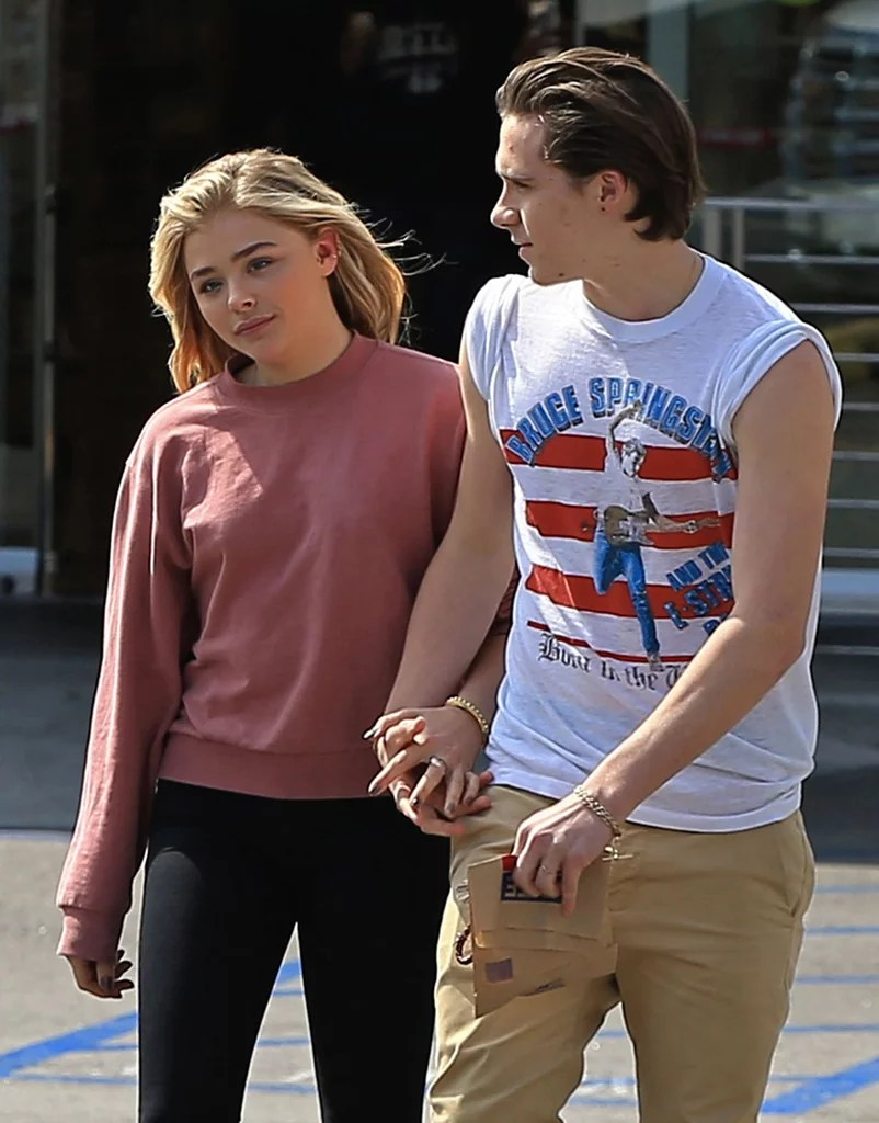 Image result for brooklyn beckham and chloe moretz
