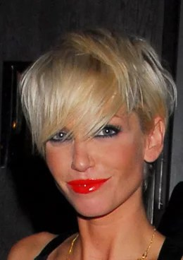 Photo Of Sarah Harding With Bright Red Lipstick Shiny Pout