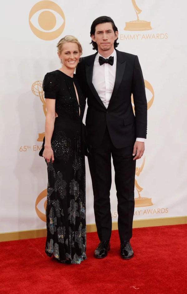 Girls star Adam Driver and Joanne Tucker hit the Emmys red ...