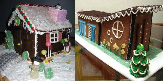 Log Cabin Gingerbread House Pattern