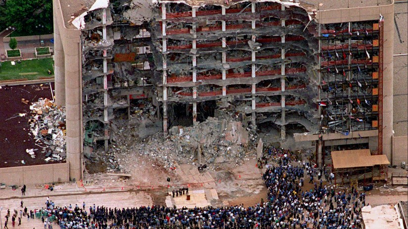 Image result for oklahoma city bombing