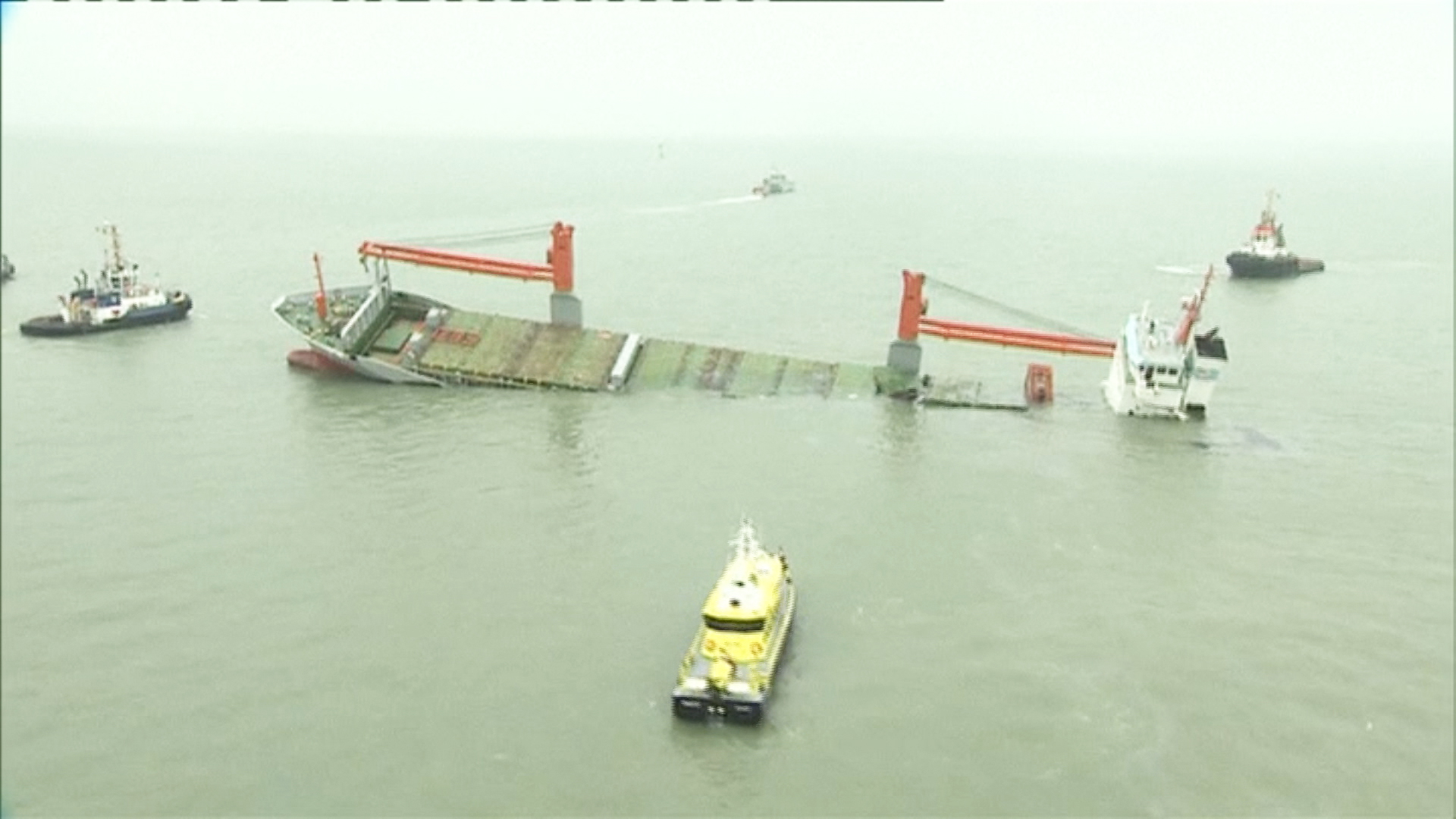 Sinking Ships Crew Rescued After Ships Collide