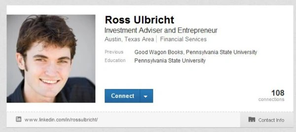 Ross William Ulbricht's LinkedIn Profile