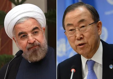 Image: Iranian President Hassan Rouhani and UN Secretary-General Ban Ki-moon
