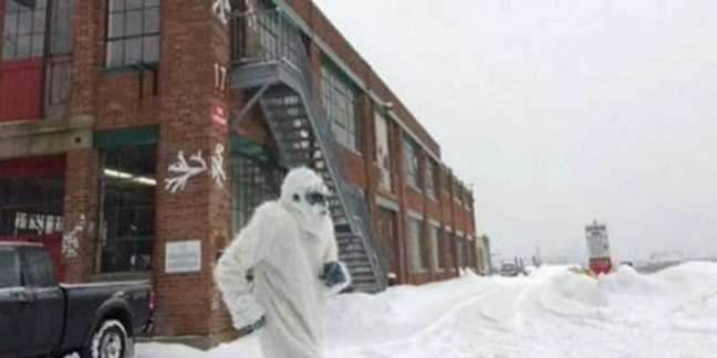 Boston Yeti' spotted shoveling snow has become an online sensation