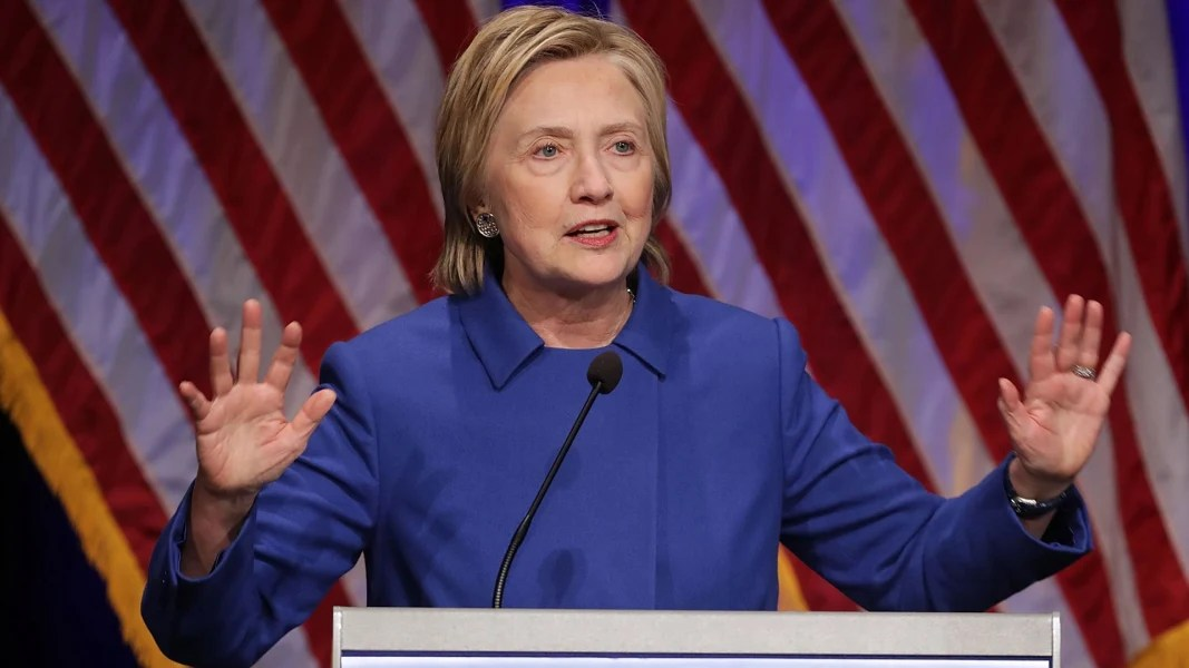 Image result for image of Hillary Clinton talking to the press after losing the election