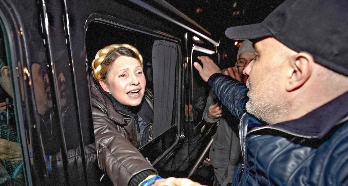 Image: Yulia Tymoshenko freed, leaving hospital
