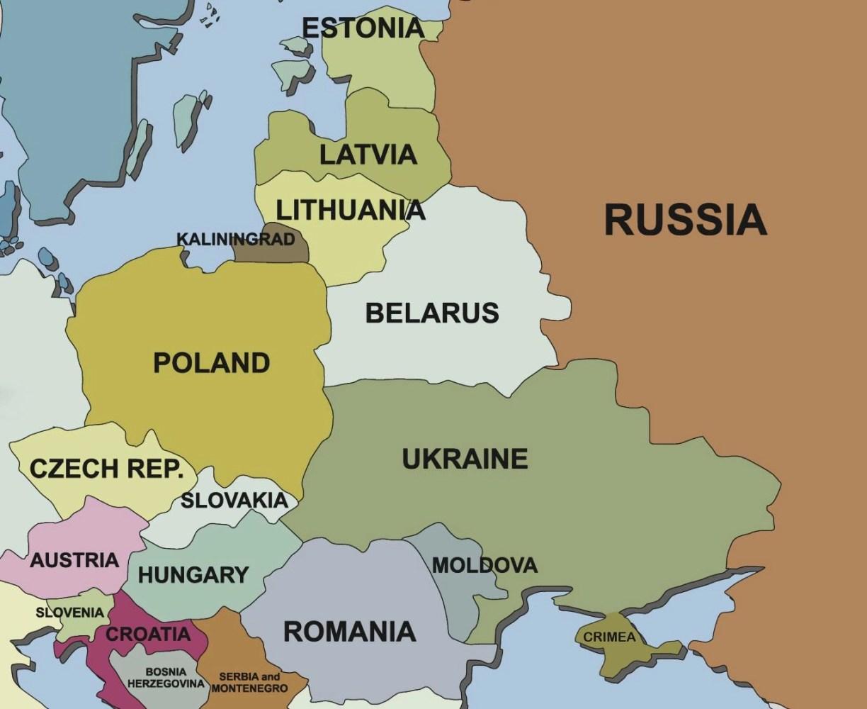 Russa Crimea Ukrane Map