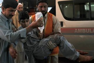 Image: Victim of bombing in Pakistan