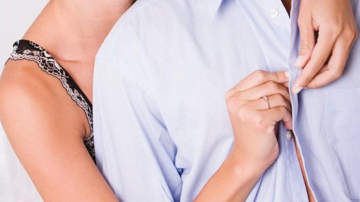 תוצאת תמונה עבור woman buttoned men shirt