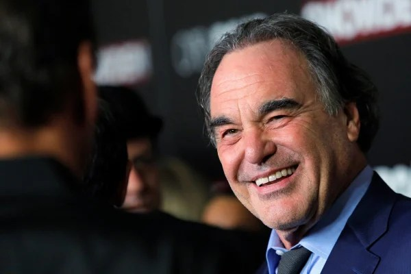 """Image: Director Oliver Stone attends the premiere of the film """"Snowden"""" in Manhattan, New York"""