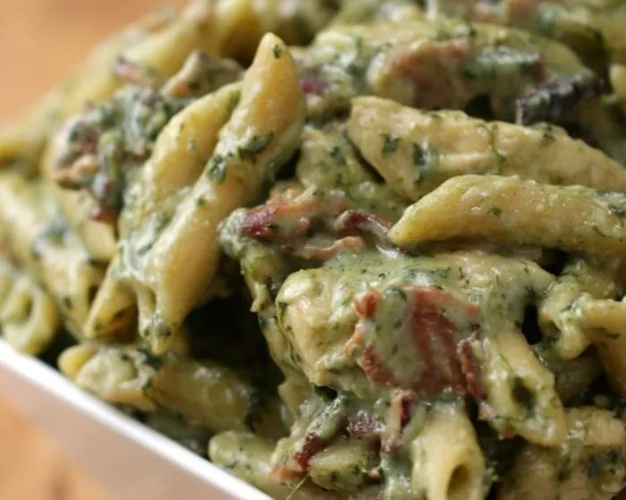 One Pot Chicken Spinach Bacon Alfredo   TODAY com One pot chicken bacon alfredo Tasty  print recipe