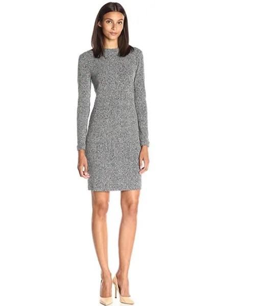 Lark & Ro Mock-Neck Rib-Knit Dress seen on Today Show deals