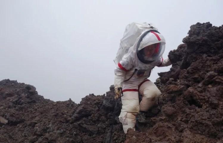 Image: A HI-SEAS crewmember participates in a year-long simulated Mars mission in Mauna Loa, Hawaii