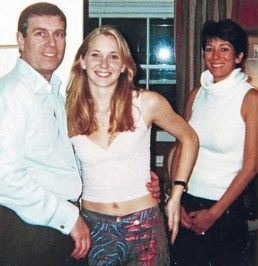 IMAGE: Prince Andrew, Virginia Giuffre and Ghislaine Maxwell