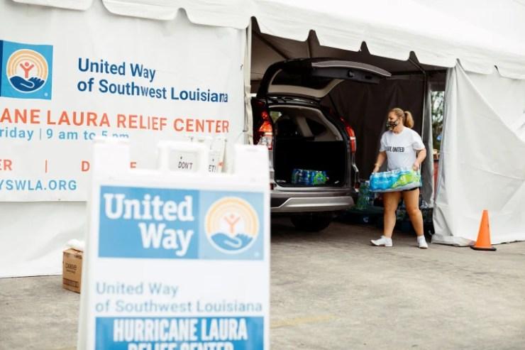 Image: United Way of Southwest Louisiana Hurricane Relief Center