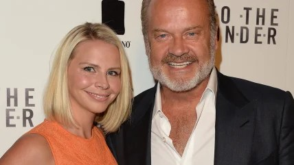 Image: Kelsey Grammer and wife Kayte Walsh