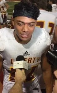 Sione Vaki was the center of attention after Liberty of Brentwood topped Pittsburg in showdown game last Friday. CalHiSports