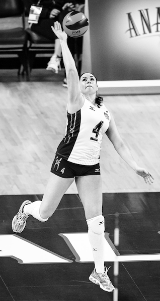 Olympic volleyball star Lindsey Berg says, My jump serve was a big weapon for me in college and on the national team.