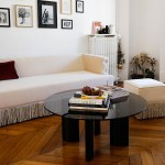 Coffee Table With Red Lacquered Legs And Smoked Glass Top Carlotta The Socialite Family