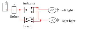 Diagram: IndicatorHazard Light Circuit