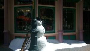Jul mitt i värmen i Universal Studios