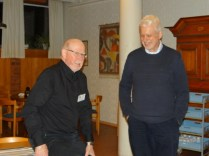 Årsmötesordförande Lasse Svensson och ordförande Stefan Boegård
