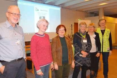 Delar av styrelsen med nyvalda Maria Schartau (tvåa) och Maria Lundström Jonsson (trea), från vänster