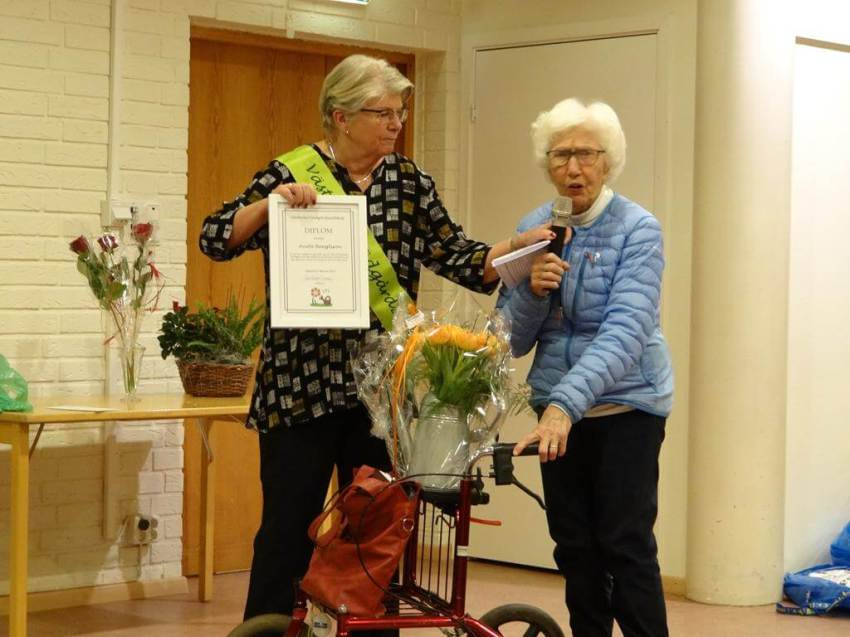 Anita Bengtsson tackar för stipendiet 2019