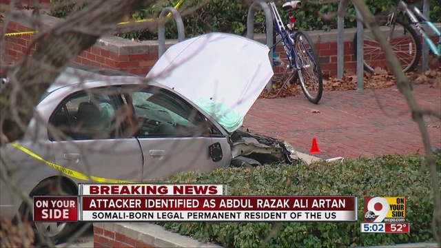 Image result for pics of car ramming in ohio state