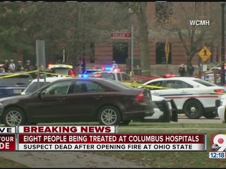 Image result for november 28, 2016 Ohio state university terrorist attack map car and knife victims