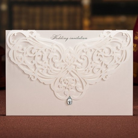 Chandelier Laser Cut Wedding Invitation Card Cards