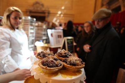 Many pies were on sale at the Grand Central bake sale for The Food Bank of New York.