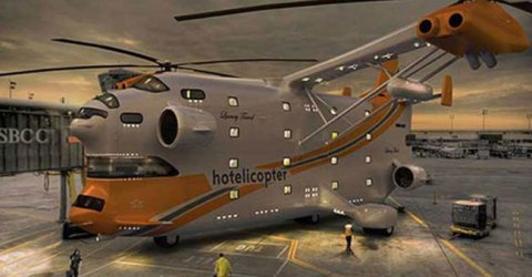 The Worlds First Flying Hotel Hotelicopter, For The Extra Luxury Travel