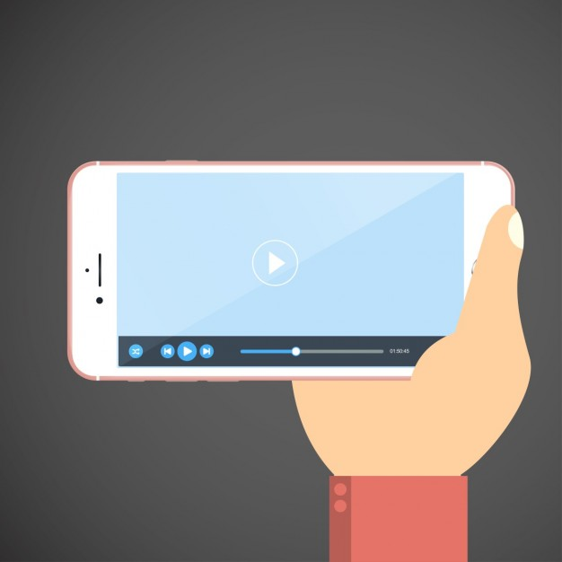 person about to watch a video on a phone