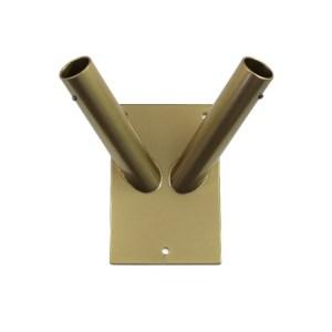 Uchwyt fasadowy 2 ramienny ze stali nierdzewnej malowany proszkowo kolor złoty