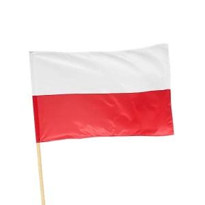 Flaga Polska o wymiarze 70x112 cm