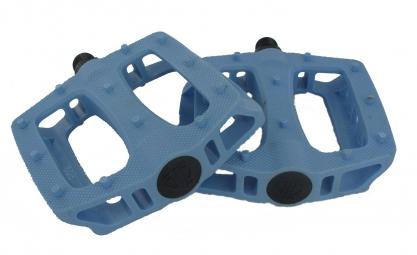 Paire de Pédales plates T-Rex Bleu Brick Lane Bikes