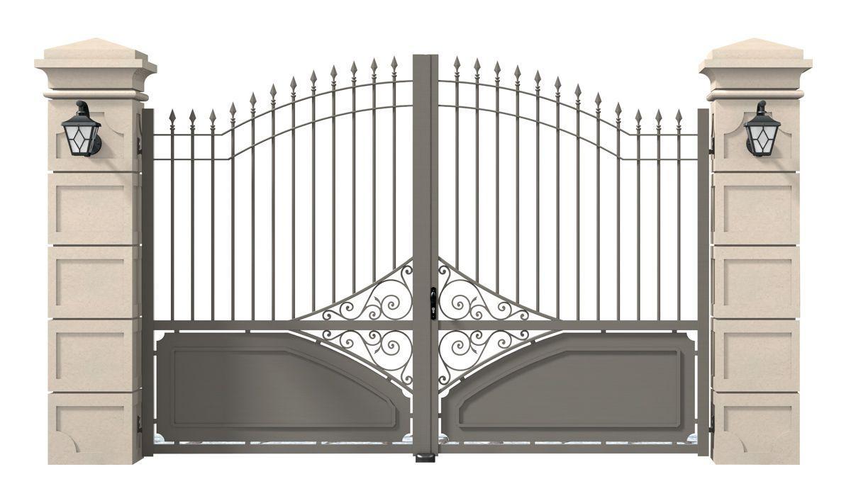 portail alu semi ajoure personnalisable