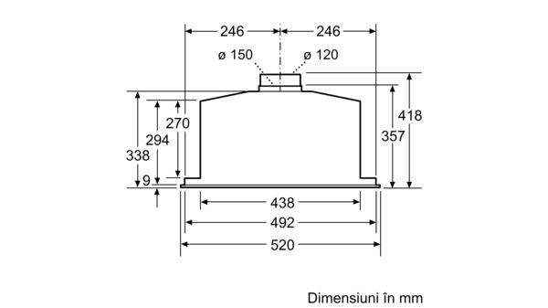 Serie | 6 Hotă încorporabilă 52 cm Inox DHL585B DHL585B-9