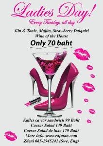 Ladies Day, every Tuesday at Cajutan in Bankok