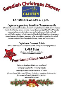 Swedish Christmas dinner at Cajutan in Bangkok
