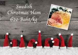 Swedish Christmas Ham at Cajutan in Bangkok